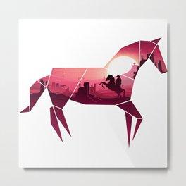 Origami Horse (Wild West) Metal Print