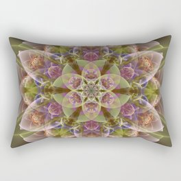 Fantasy flower with tribal patterns Rectangular Pillow