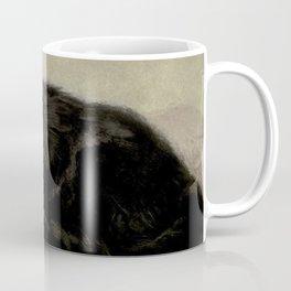 Vintage Painting of a Black Cat (1903) Coffee Mug