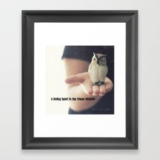 wise old owl Framed Art Print