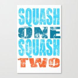 SQUASH ONE SQUASH TWO Canvas Print