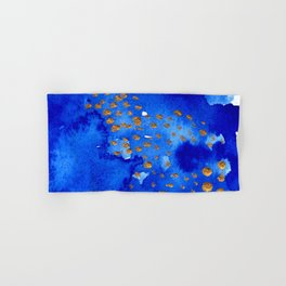 gold snow I Hand & Bath Towel