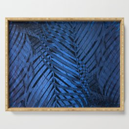 TROPICAL BLUE LEAVES PATTERN Serving Tray