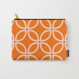 Trellis Orange Carry-All Pouch