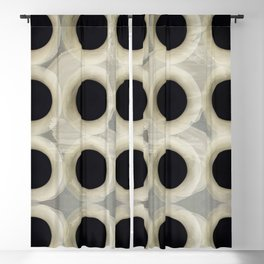 """Black Spots on Grey Cement"" Blackout Curtain"