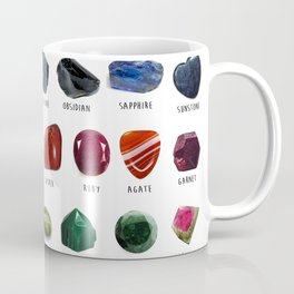crystals gemstones identification Coffee Mug