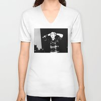 zombies V-neck T-shirts featuring Zombies by Late Nite Draw