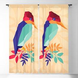 Low Poly Bird Blackout Curtain