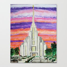 Rome Italy LDS Temple Canvas Print