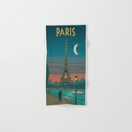 Vintage poster - Paris Hand & Bath Towel