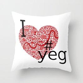 I Heart #YEG Throw Pillow