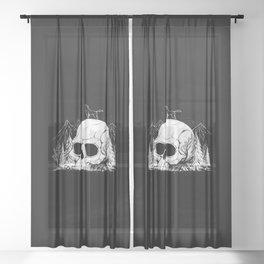 Skull Forest Sheer Curtain