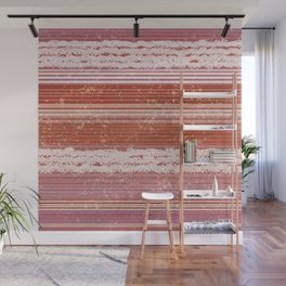 Abstract in shades of red and creamy Wall Mural