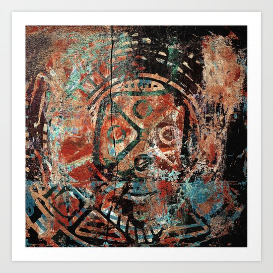 Mandala Pré-Colombiana Art Print