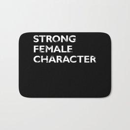 Strong Female Character Bath Mat
