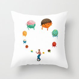 Ice Cream Solves Everything Throw Pillow