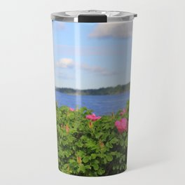 Melmerby Beach Wild Rose Travel Mug