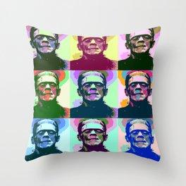Frankenstein Pop Art Throw Pillow