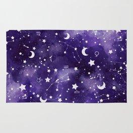 Zodiac Watercolor Ultraviolet Rug