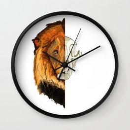 Lion skull Wall Clock