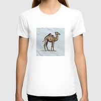 salt water T-shirts featuring CAMEL - SALT WATER #2 by Agustin Flowalistik