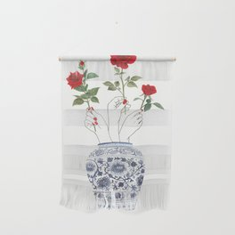Hands, vase, roses Wall Hanging