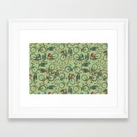 bikes Framed Art Prints featuring Bikes by Catru