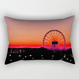 Navy Pier Sunset Rectangular Pillow