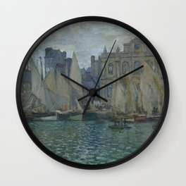 The Museum at Le Havre by Claude Monet Wall Clock