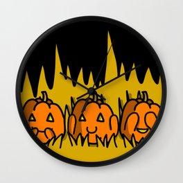 Halloween Pumpkins Speak No Evil, Hear No Evil, See No Evil   Veronica Nagorny Wall Clock
