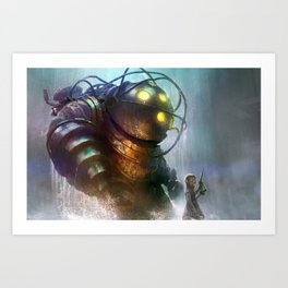Mr Bubbles strolling  Art Print