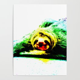 A Smiling Sloth II Poster
