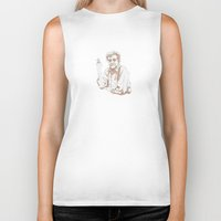 vonnegut Biker Tanks featuring So it goes * Vonnegut  by Tricia Robinson