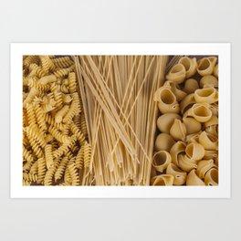 Different kind of pasta Art Print