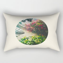 Pink Greenhouse Flowers Rectangular Pillow