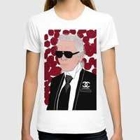 karl lagerfeld T-shirts featuring Karl Lagerfeld by Stephanie Jett