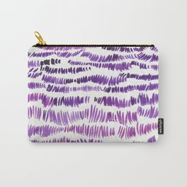 original feather Opaque color purple Carry-All Pouch