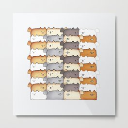 Sweet Little Fluff Balls Metal Print
