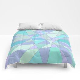 Shattered Purple & Green Comforters