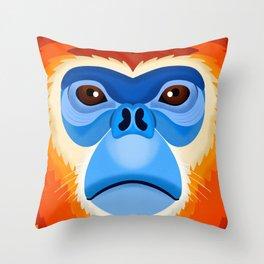 Golden Snub Nosed Monkey Throw Pillow