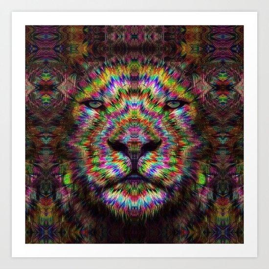 Psychedelic Lion Art Print By Zandonai Society6