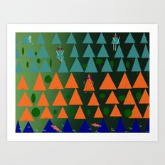 dusk in the valley Art Print