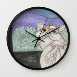 Angel Cat Wall Clock