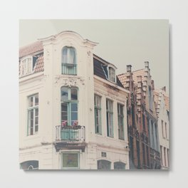 Bruges apartment building print  Metal Print