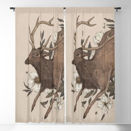 Floral Elk Blackout Curtain