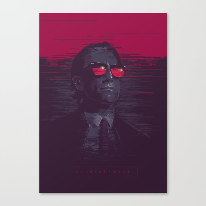 Nightcrawler - alternative movie poster Canvas Print