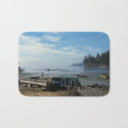 Orcas Island Clams and Oysters Bath Mat