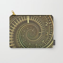 Bronze Metallic Ornate Spiral Time Machine Carry-All Pouch