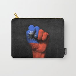 Taiwanese Flag on a Raised Clenched Fist Carry-All Pouch