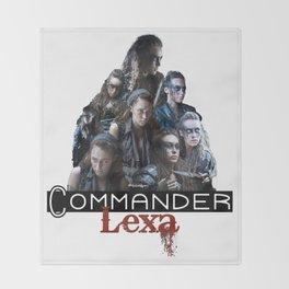 Commander Lexa Throw Blanket